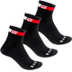 GripGrab Classic Regular Cut Socks 3-Pack Black